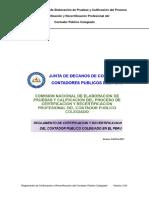 Reglamento de Certificacion y Recertificacion Profesional Del Contador Publico Colegiado 099