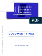 [FRA] Rencontre des Responsables de Vocations – DOCUMENT FINAL