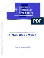 [ENG] Meeting of Vocational Promoters – FINAL DOCUEMENT