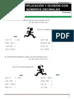Decimales Multiplicación División