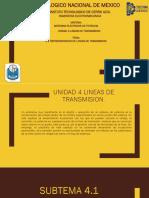 4.1 REPRESENTACION DE LINEAS DE TRANSMISION