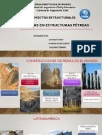 PATOLOGÍAS EN ESTRUCTURAS PÉTREAS