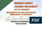 Programa de Segunda Especialidad Profesional en Educacion