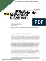 Resiliência de Sistemas Urbanos