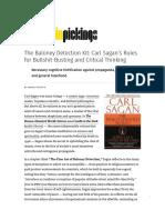 Carl Sagan Kit to Critical Thinking