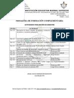 Cronograma Finalización PFC 2018-2