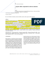 Abatement of volatile organic sulfur compounds in odorous emissions from the bio-industry