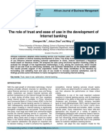 The Role of Trust and Easeof Use in the Development OfInternet Banking