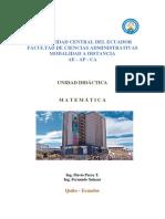 Unidad Didactica Matematica Rediseño