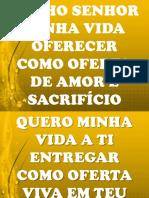 VENHO SENHOR MINHA VIDA OFERECER.ppt