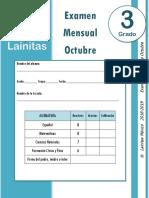 Octubre - 3er Grado - Examen Mensual (2018-2019).docx