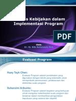 11. Analisis Kebijakan Dalam Implementasi Program