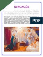 Esta gran fiesta tomó su nombre de la buena nueva anunciada por el arcángel Gabriel a la Santísima Virgen María.docx