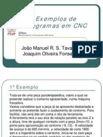 Exemplos de Programas Em CNC