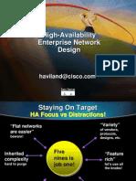 Cisco Hight Availability Enterprise Network Design