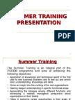 Summer Training Guidelines