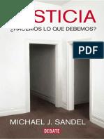 Sandel - Justicia