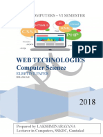 Web Technologies Notes7