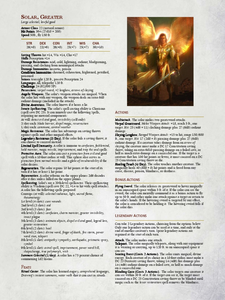 5e Solar, Greater   Weaponry   Leisure