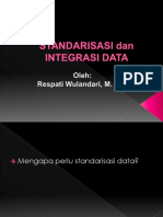 Standarisasi data integrasi