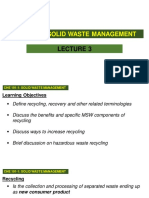 Lecture 3 Recycling