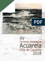 XV Certamen Nacional de Acuarela Villa de Caudete 2018