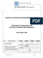 MG-CIMS-G-020 Rev A3 Corporate Procedure for Contractors Vendors Suppliers Feedback