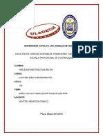 Directiva de Formulación Presupuestaria