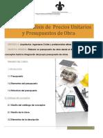 Analis de Precios Unitarios 2014