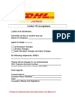 Letter of Acceptance (LOA)