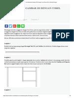 Cara Membuat Gambar 3D Dengan Corel Draw _ IDS _ Sekolah Design