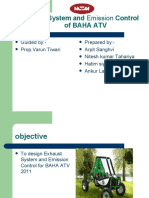 Exhaust System and Emission Control of BAHA ATV