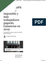 Suben Un 28% El Mínimo Imponible y Más Trabajadores Pagarán Ganancias en 2019