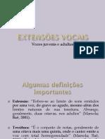 Extensões Vocais e Alterações Na Voz No Decorrer Da Vida