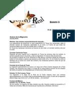 Boletin 9 de Correo Real de las Mariposas Monarca. Temporada  2010-2011