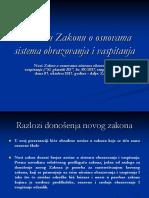 Novine u Zakonu o Osnovama Sistema Obrazovanja PREZENTACIJA 17 (1)