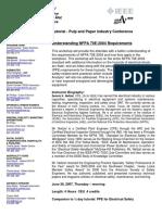 2007 Tutorial Understanding NFPA 70E