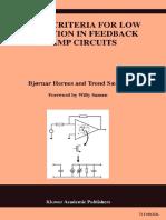 Design Criteria for Low Distortion in Feedback Opamp Circuits (Bjørnar Hernes)