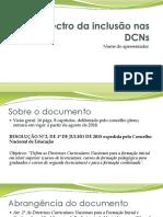 Espectro da inclusão nas DCNs