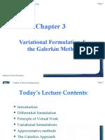 Lecture 3 Galerkin Method
