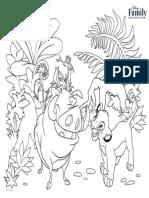 Lion King Coloring Page Printable 0811 FDCOM