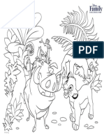 Lion King Coloring Page Printable 0811 FDCOM