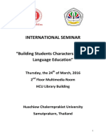 International Seminar Papers and Abstracts