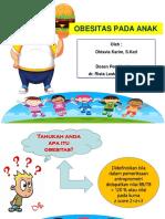 Penyuluhan - Obesitas Pada Anak