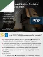 Larmor resonant sodium excitation for LGS