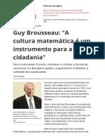 Guy Brousseau a Cultura Matematica e Um Instrumento Para a Cidadaniapdf