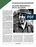 Una revolución democrática para El Salvador