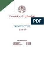Prospectus Hyderabad