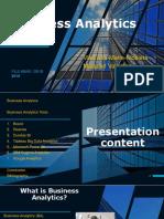 Business Analytics Tools