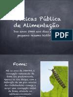 aula de política pública de Alimentação